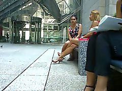 Candid Amazing Legs & Feet Shoeplay by Blonde PT 1