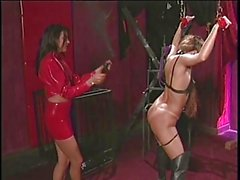 2 latex hotties into bondage and BDSM
