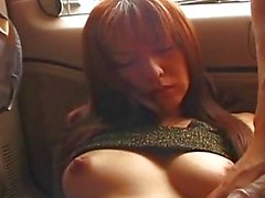 Beautiful Asian with hard nipples blowjob