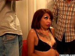 Coco Velvett tattooed whore wants to party