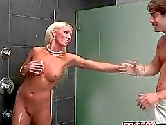Sex in the shower with a MILF with Diana Doll