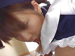 Bonita que dama asiática , a Natsumi exponen coño caliente