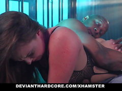 DeviantHardcore - Caged Slut Gets Dominated By BBC