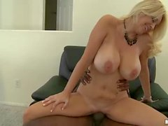 Busty milf Charlee Chase has Office sex with black guy