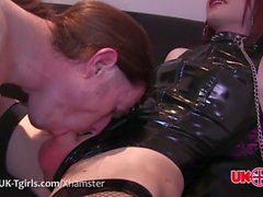 UK-Tgirl Alicia Snow Get Dominated!