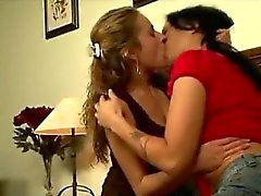 Big stacked mature lesbian seduces a curious housewife