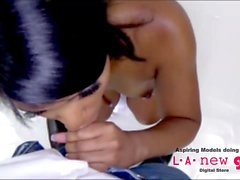 black girl fucked in the ass at photo shoot casting