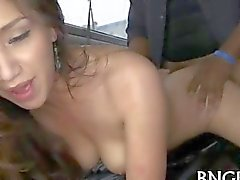 Bang bus amateur humped with a black cock