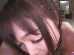 Petite Teen Megumi Shino Sucks Cock In POV