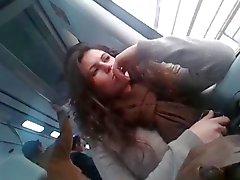 geile meisje op de trein