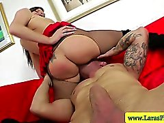Tight mature milf riding cock and face