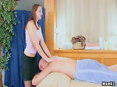 WANKZ Masseuse Done From Behind