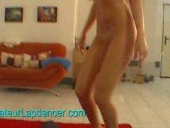 Sexy POV lapdance by czech blonde chick