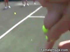 College Girls Get Naked On Tennis Court During Hazing