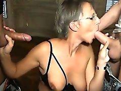 French matura Sophie in doppia penetrazione