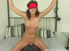 Chayse rides Sybian