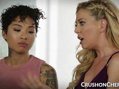 CrushGirls - Шери Девилль учит сексу своей падчерице