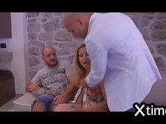 threesomes anal gang bang for an italian bitch