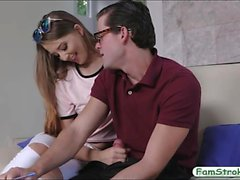 Small tits teen screwed by her stepbro in many positions