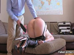 British blonde got ass spanked and fucked