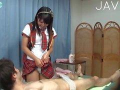 Cock sucking in massage salon