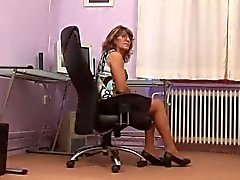 Tiny titted Office Milf Fucks
