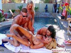 Seksi bir eş Emma Starr , Jessica Jaymes ve Nikki Benz paylaşımı