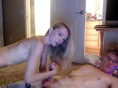 European crazy family the mother gives blowjob