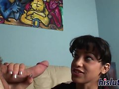 sesión de mamada intensa con agua caliente Abella Anderson