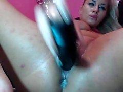 Masturbação de sexo por telefone loira gostosa para webcam
