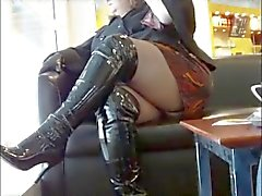 BBW spike heeled boots shopping