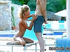 Skinny Girl Fucked by the Pool LST