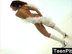 Teen Girls Teasing The Camera