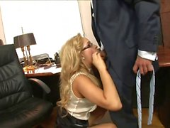 Blonde Secretary Sex In The Office