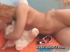 Dildoing french teenaged in pink panties part6