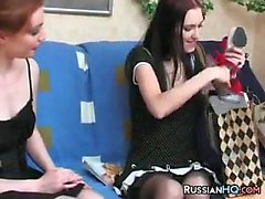 Russian Lesbians On The Sofa