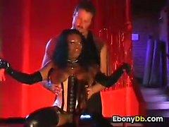 Ebony Slut In Latex Fucked In The Ass