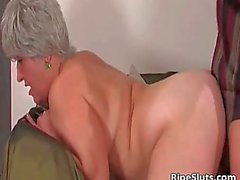 Busty chubby mature slut gets wet pussy fucked