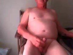 Grandpa cum sur webcam