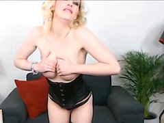 Harley Quinn Cosplay Irish Accent and so Latex Kinky Blonde