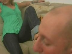 Licking sisters feet