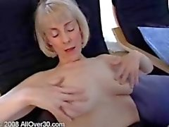Blonde gmilf housemaid Hazel fingering