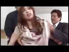 Young Asian babe gets her hairy snatch pounded for a creampie dessert