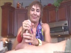 Handjob In The Kitchen