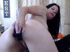 Matured Sexy Hot Babe Doing Anal Solo