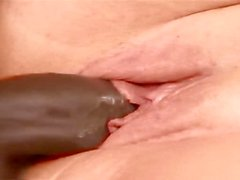 Vanessa Blake, A BBW who loves her sausage, takes it in her plump vagina