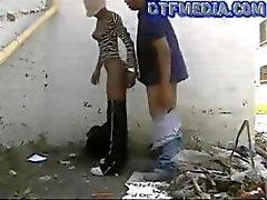 dtfblack porno sokak çapa dar bir sokakta gets fucked