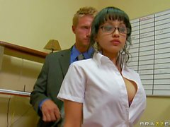 Abella Anderson is Levi Cash's new perfect boobed secretary. She