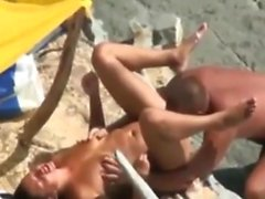 Public swingers Sex at the Beach