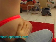 Nice blond lady shows her lapdance skills